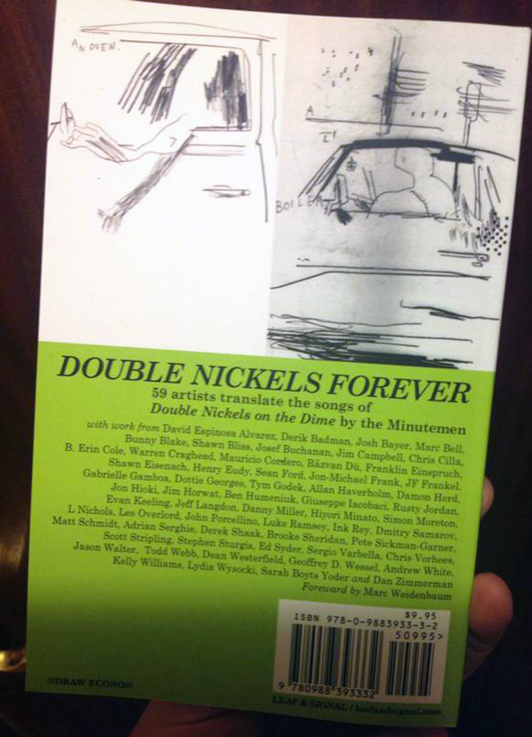 Double Nickels Forever back cover with list of artists.