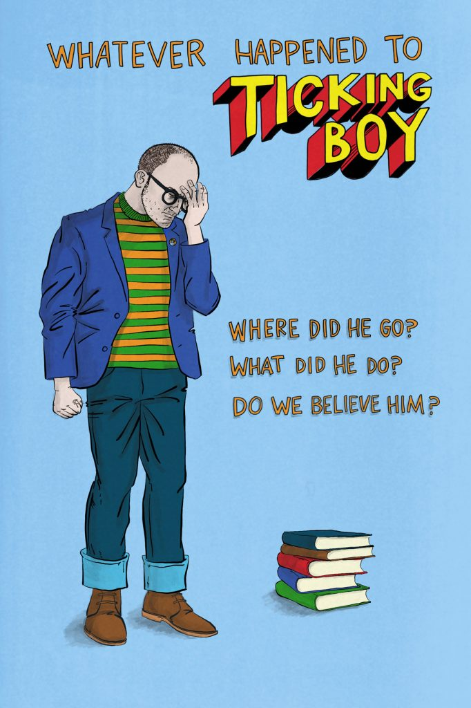 Whatever happened to Ticking Boy cover image with bald man holding his head in his hand